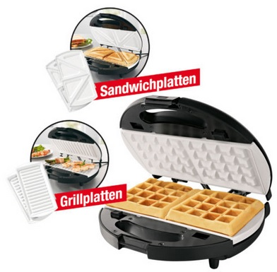 gourmetmaxx vario chef 3in1 waffeleisen sandwichmaker und grill f r 19 99. Black Bedroom Furniture Sets. Home Design Ideas