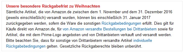 amazon-rucksendung