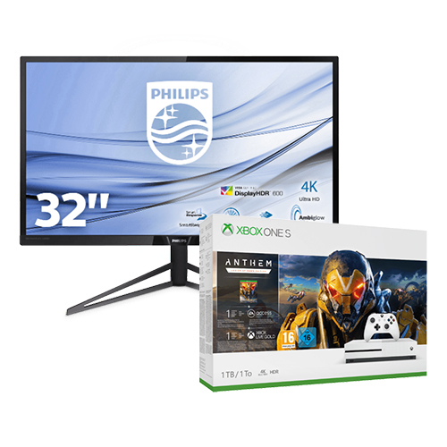 31 5 philips 4k monitor xbox one s 1tb anthem bundle. Black Bedroom Furniture Sets. Home Design Ideas