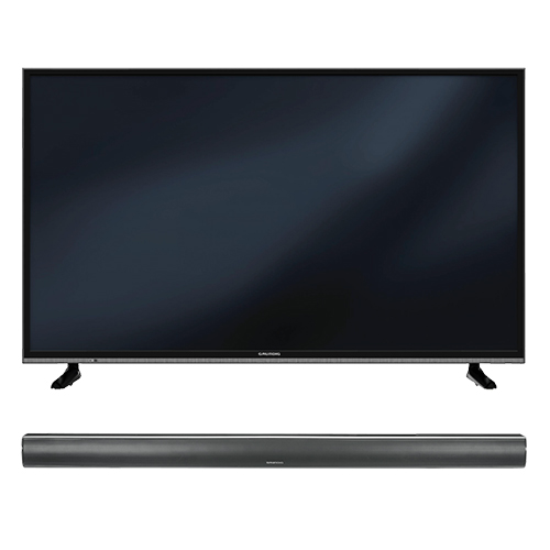 49 zoll 4k fernseher soundbar grundig 49 gub 8962. Black Bedroom Furniture Sets. Home Design Ideas
