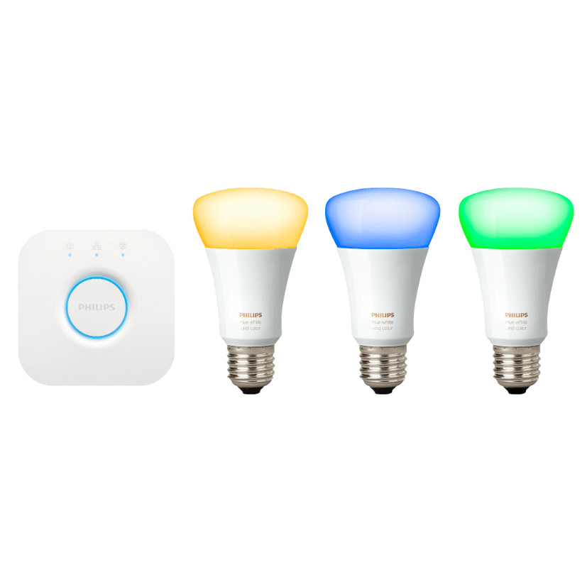 led lampen philips hue starter set inkl bridge f r 129 statt 142. Black Bedroom Furniture Sets. Home Design Ideas