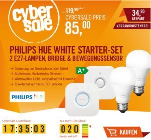 philips hue white starter set inkl bewegungssensor f r 85 statt 98. Black Bedroom Furniture Sets. Home Design Ideas