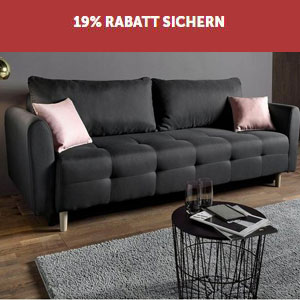 places of style schlafsofa inklusive bettkasten und zierkissen f r 242 99. Black Bedroom Furniture Sets. Home Design Ideas